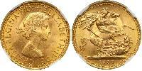 1 Sovereign Reino Unido (1922-) Oro Isabel II (1926-)