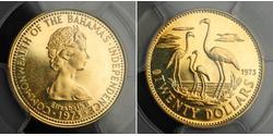 20 Доллар Багамские о-ва Золото Елизавета II (1926-)