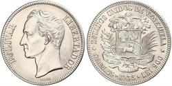 5 Bolivar Venezuela Silber