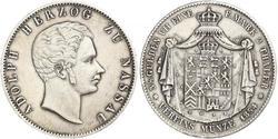 2 Талер Нассау (герцогство) (1806 - 1866) Серебро Адольф (великий герцог Люксембургский)