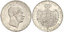 2 Thaler / 3½ Gulden Hesse-Darmstadt (1806 - 1918) Plata Federico Guillermo de Hesse-Kassel (1802 - 1875)