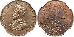 1 Cent Hongkong Bronze George V (1865-1936)
