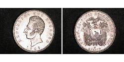 5 Sucre Ecuador Silber Antonio José de Sucre (1795 - 1830)