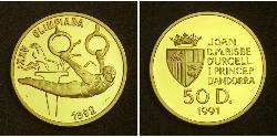 50 Динер Андорра Золото