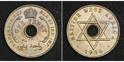 Penny Britisch-Westafrika (1780 - 1960) Kupfer/Nickel Eduard VIII (1894-1972)