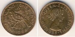 1 Penny Neuseeland Bronze Elizabeth II (1926-)