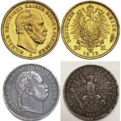 "Wilhelm I ""the Great"",  first German Emperor (9) coins - dpa1"