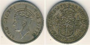 1/2 Crown Southern Rhodesia (1923-1980) Cuivre/Nickel George VI (1895-1952)
