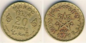20 Franc Marruecos Bronce/Aluminio
