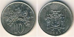 10 Цент Ямайка (1962 - ) Никель/Медь