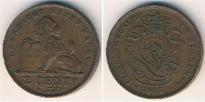 2 Cent Belgien Kupfer