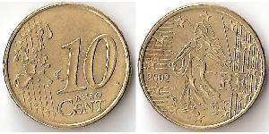 10 Eurocent French Fifth Republic (1958 - ) Tin/Aluminium/Copper/Zinc