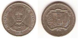 25 Centavo República Dominicana Níquel/Cobre