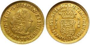 1 Escudo Pérou Or Ferdinand VI d