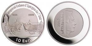 10 Euro Luxemburgo Plata-Titanio