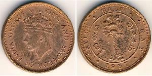 1/2 Cent Sri Lanka Cuivre George VI (1895-1952)