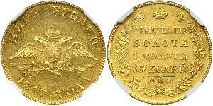 5 Rublo Impero russo (1720-1917) Oro Alessandro I (1777-1825)