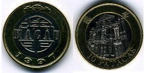 10 Патака Португалія / Аоминь (1862 - 1999) Біметал