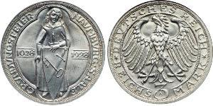 3 Mark States of Germany Plata
