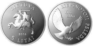 5 Litas Lituanie (1991 - ) Argent
