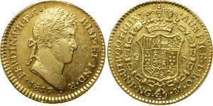 2 Эскудо Гватемала Золото Фердинанд VII король Испании (1784-1833)