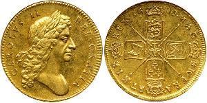 5 Guinea 英格兰王国 金 查理二世 (英格兰) (1630 - 1685)