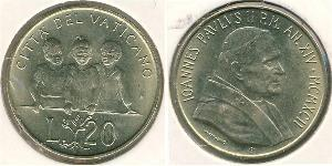 20 Lira 梵蒂冈 黃銅