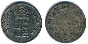 1 Kreuzer Königreich Württemberg (1806-1918) Silber