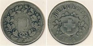 10 Rappen Schweiz Silber