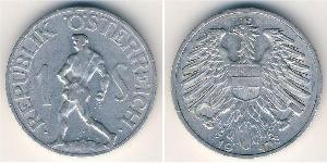 1 Shilling Besetztes Nachkriegsösterreich Aluminium
