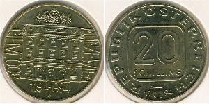 20 Shilling Republic of Austria (1955 - ) Alluminio