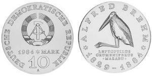 10 Mark 東德 (1949 - 1990) 銀