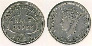 1/2 Рупія Сейшели Срібло Георг VI (1895-1952)