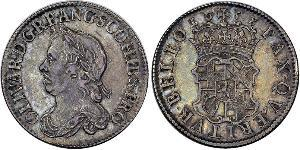 1 Shilling Commonwealth of England (1649-1660) Silber Oliver Cromwell (1599 - 1658)