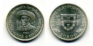 20 Эскудо Вторая Португальская республика (1933 - 1974) Серебро