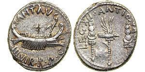 1 Denarius Roman Republic (509BC-27BC) Silver Mark Antony (83BC-30BC)