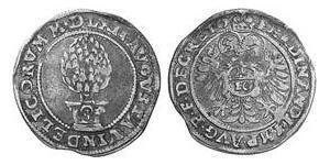 10 Kreuzer Augsburg (1276 - 1803) Silber Ferdinand I (1503-1564)
