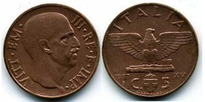 5 Centesimo 意大利王國 (1861-1946) 青铜/铝