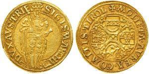 1 Gulden Sacro Imperio Romano (962-1806) Oro