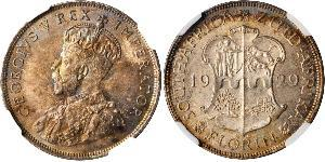 1 Florin South Africa 銀 乔治五世  (1865-1936)