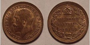 1/3 Farthing United Kingdom of Great Britain and Ireland (1801-1922) Bronze George V of the United Kingdom (1865-1936)