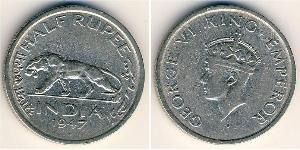 1/2 Rupee Raj Británico (1858-1947) Níquel