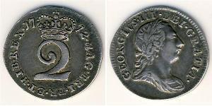 2 Пенни Королевство Великобритания (1707-1801) Серебро Георг III (1738-1820)