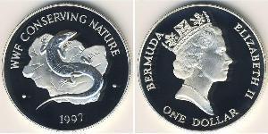 1 Dólar Bermudas Plata Isabel II (1926-)