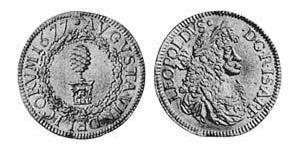 1 Ducat Augusta (Germania) (1276 - 1803) Oro Leopoldo I d