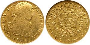 1 Эскудо Гватемала Золото Карл IV король Испании (1748-1819)