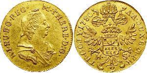 1/2 Дукат Священная Римская империя (962-1806) / Княжество Трансильвания (1571-1711) Золото Maria Theresa of Austria (1717 - 1780)