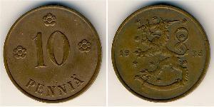 10 Пенни Финляндия (1917 - ) Медь