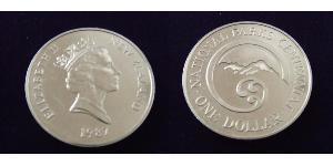 1 Dollar Nouvelle-Zélande Cuivre/Nickel Elizabeth II (1926-)