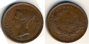 1/4 Cent Établissements des détroits (1826 - 1946) Cuivre